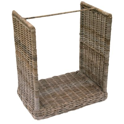 Wheeled Rattan Log Store
