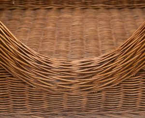 Small Luxury Raised Rattan Dog Basket