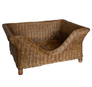 Luxury Raised Wicker Dog Basket