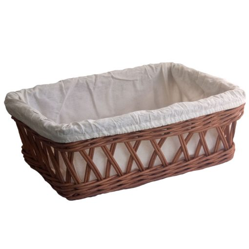 Lined Dark Rattan Bread Basket