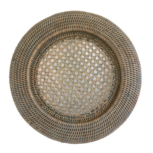 Round Grey Rattan Charger or Underplate
