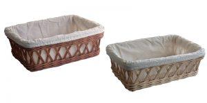 Lined Wicker Bread Baskets