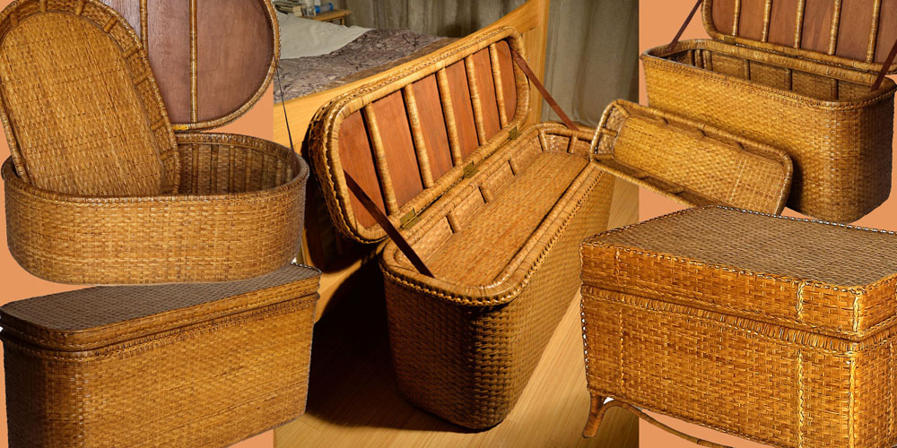Rattan Storage Trunks fro Myanmar