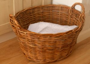 Wicker Clothes Basket