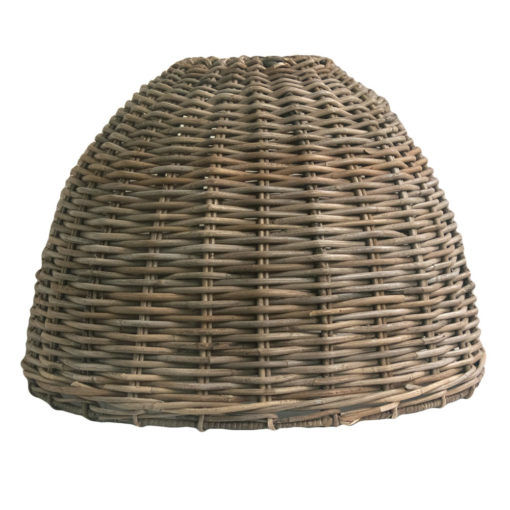 Tall Round Shaped Rattan Lampshade