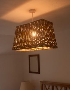 Oblong Grey Rattan Lampshade