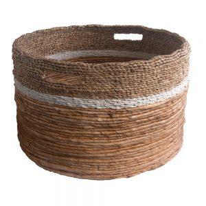 Round Mixed Weave Storage Baskets in 3 sizes