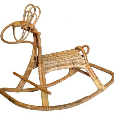 Rattan Rocking Horse