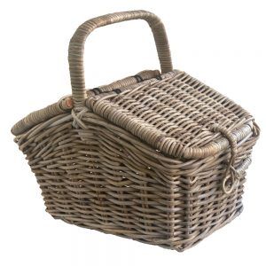 Rattan Picnic with Lid and Handle