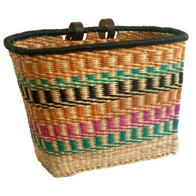 Multicoloured Bike Basket from Ghana