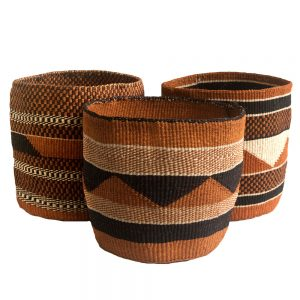 Geometric Storage Baskets from Kenya