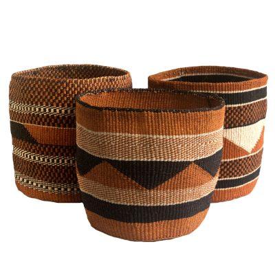 Geometric Storage Baskets from Kenya