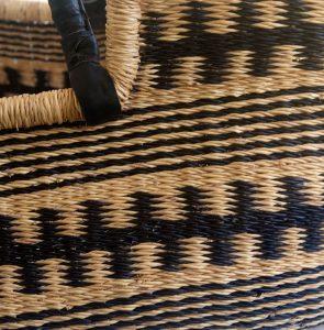 Black Patterned Moses Basket detail