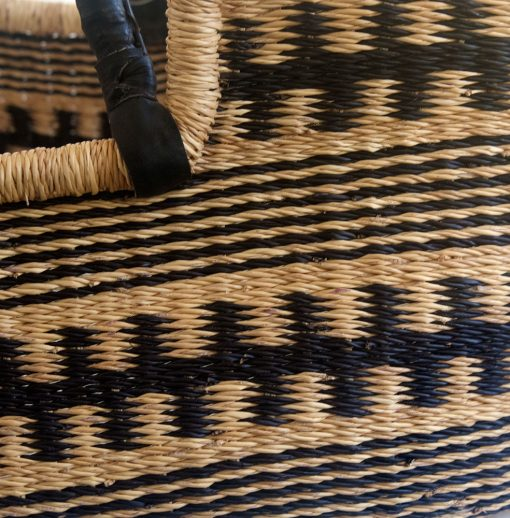 Black Patterned Moses Basket detail