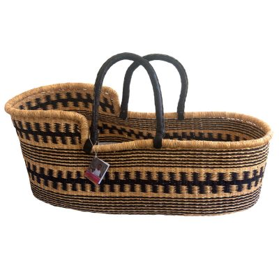 Black Pattern Moses Basket