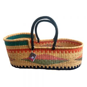 Coloured Diamond Pattern Moses Basket