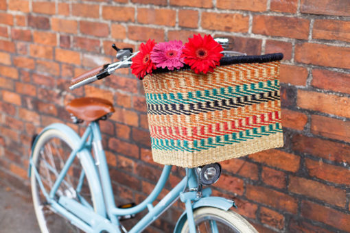 Multicoloured Oblong Bicycle Basket
