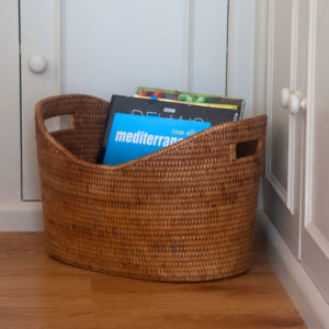 Fine Oval Wicker Storage Basket