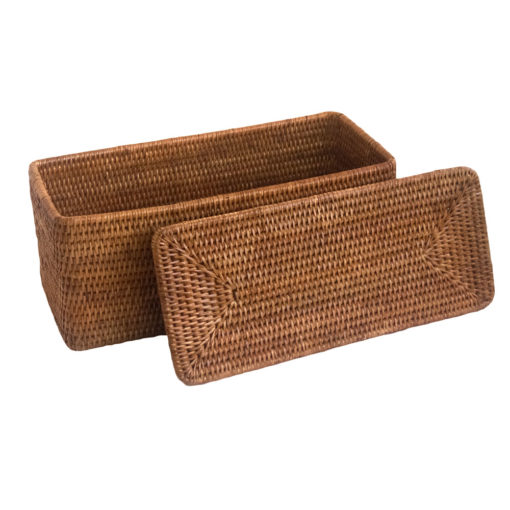 Natural Lidded Storage Box from Myanmar