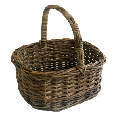 Large Grey Shopping Basket