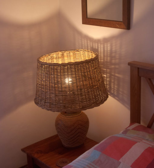 Large Round Wicker Table or Floor Lampshade