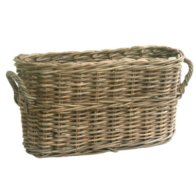 Rattan Storage Basket with Rounded Corners