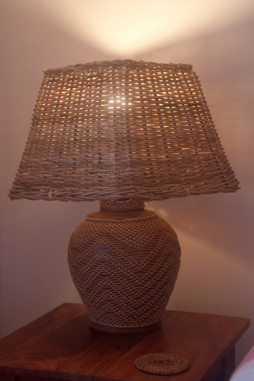 Small Square Wicker Table or Floor Lampshade