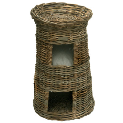 Three Tier Rattan Pet Bed or Cat Basket