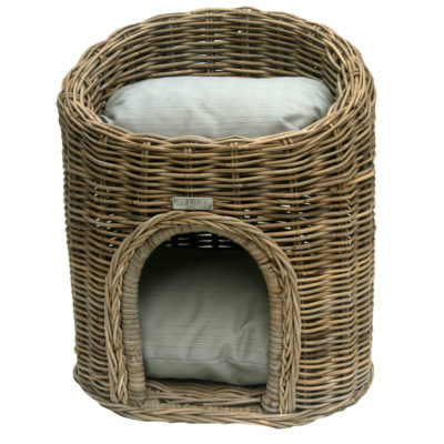 Two Tier Rattan Pet Bed or Cat Basket