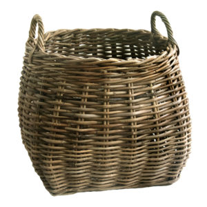Round Shaped Wicker Basket with handles with Handles