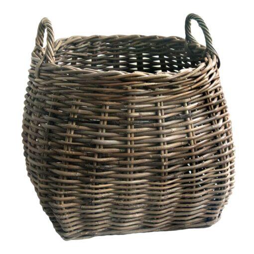 Unusual Grey Round Shaped Billy Basket