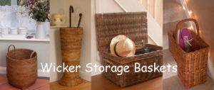 Wicker Storage Baskets from Kosmopolitan