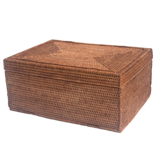 Small Finely Woven Wicker Storage Chest