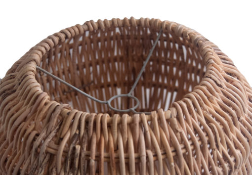 Small Round Shaped Rattan Pendant Lampshade fitting
