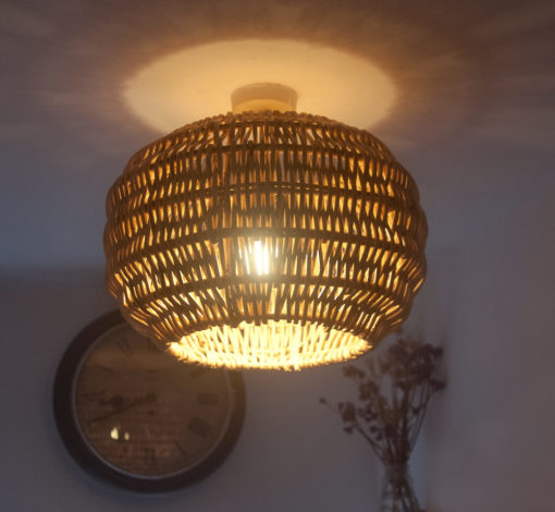 Small Round Shaped Wicker Pendant Lampshade