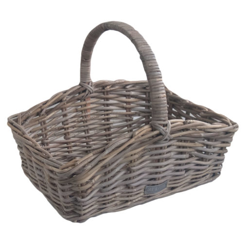 Grey Rattan Trug Display Basket