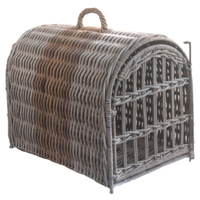 Two-tone Rattan Pet Carrier Basket