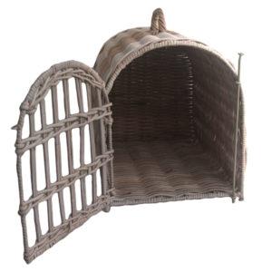 Open View Wicker Pet Carrier Basket