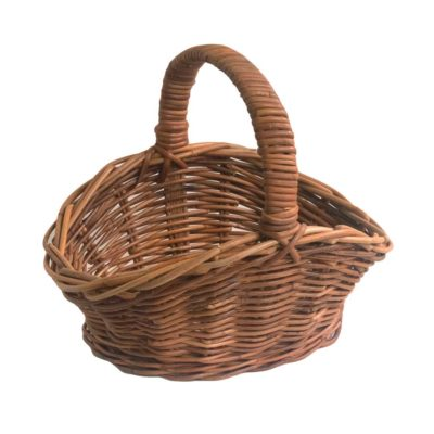 Small Oval Floral Display Basket