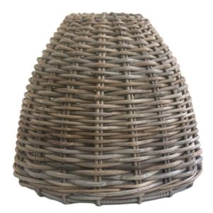 Large Grey Wicker Ceiling Lampshade