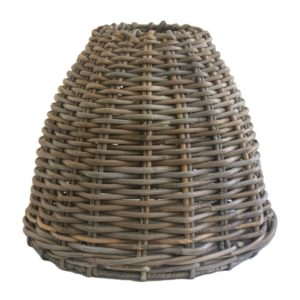 Medium Grey Wicker Lampshade