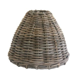 Small Grey Rattan Ceiling Lampshade