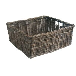 Medium Grey Oblong Rattan Storage Basket in 4 sizes
