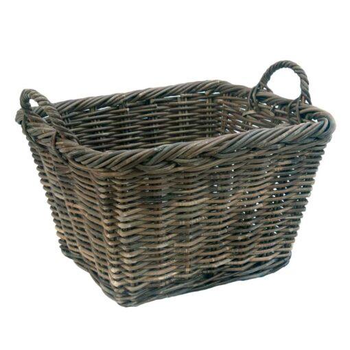 Grey Oblong Log or Storage Basket