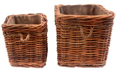 Quality Rattan Log Baskets