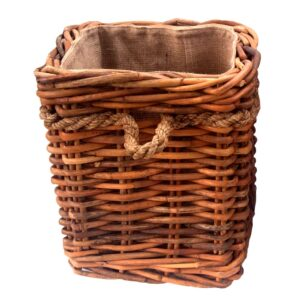Small Square Chunky Lined Log Basket with Wheels in 2 Sizes