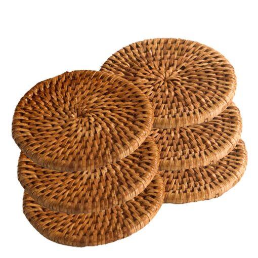 Round Rattan Coasters