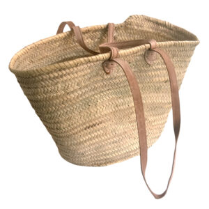 French Market Shopping Basket with Long and Short Handles