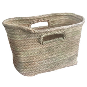 Storage Basket with Finger Holes made from Palm