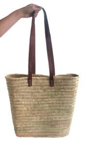 Slim Shoulder French Market Shopping Basket showing handles